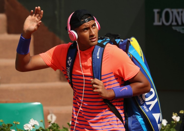 Nick Kyrgios bows out of the French Open last month against Andy Murray.