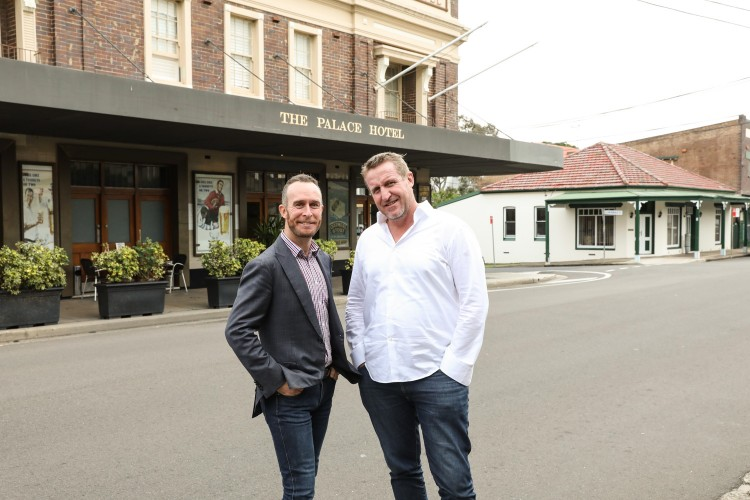 Sportsyear's Luke Matthews and publican Bill Young (Pic: Scott Ehler)